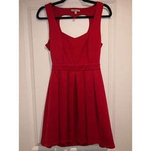 Heart cutout red dress